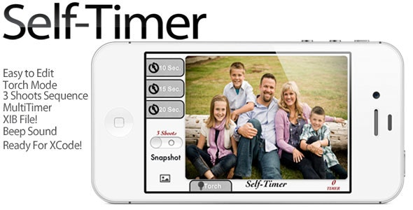 iPhone Camera Self-Timer - CodeCanyon Item for Sale