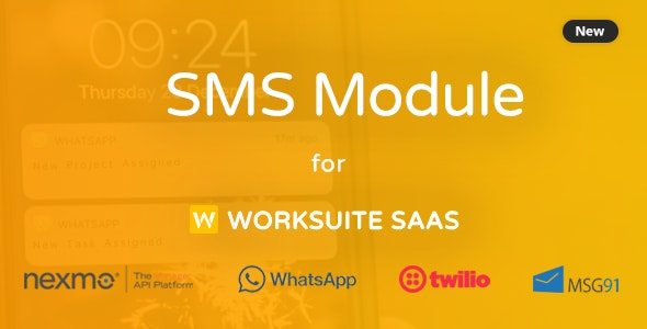 SMS Module for Worksuite SAAS - CodeCanyon Item for Sale