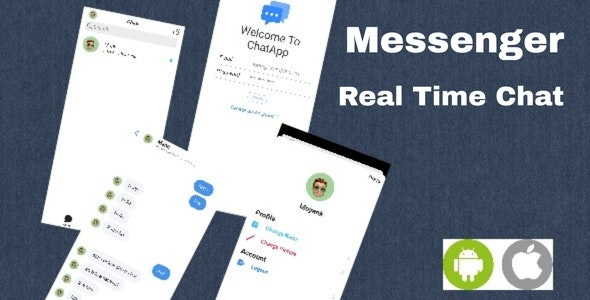 Messenger - Chat App IOS Android - Serverless - CodeCanyon Item for Sale