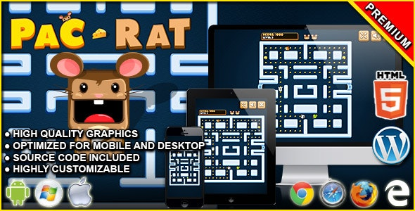 Pac-Rat - HTML5 Arcade Game - CodeCanyon Item for Sale
