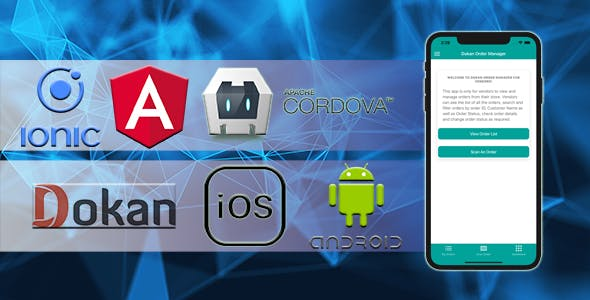 Dokan Order Manager Android iOS Apps For Vendors Using Ionic 5 Angular
