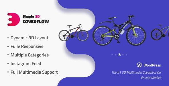 Simple 3D Coverflow Wordpress Plugin - CodeCanyon Item for Sale