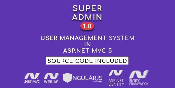 Super Admin - User Management System in ASP.NET MVC 5 - CodeCanyon Item for Sale