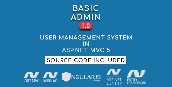 Basic Admin - User Management System in ASP.NET MVC 5 - CodeCanyon Item for Sale