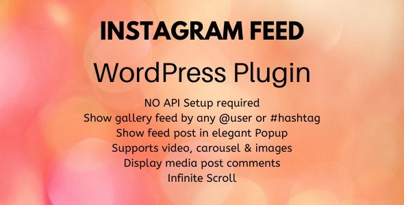 Instagram Feed - Wordpress Plugin - CodeCanyon Item for Sale