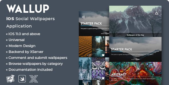WallUp | iOS Social Wallpapers Application [XServer]