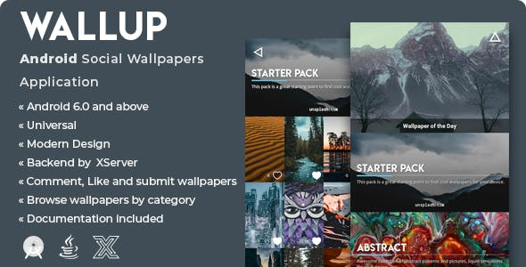 WallUp | Android Social Wallpapers Application [XServer]