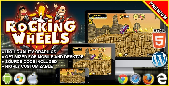 Rocking Wheels - HTML5 Racing Game - CodeCanyon Item for Sale