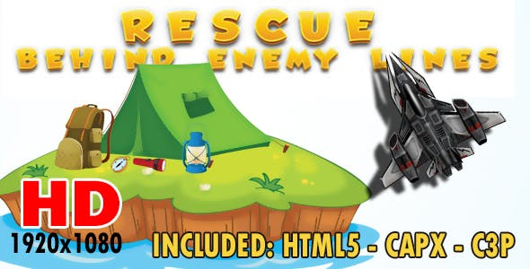 Rescue - Behind enemy lines - HTML5, Construct 2, Construct 3