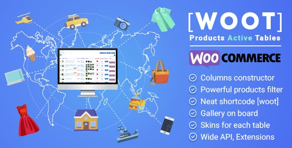 WOOT - WooCommerce Products Tables
