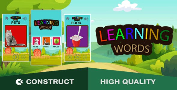 Learning Words - HTML5 Game (capx)