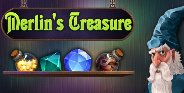 Merlin's Treasure - match3, capx - CodeCanyon Item for Sale