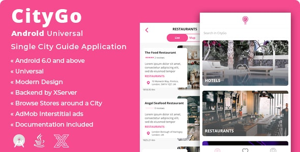 CityGo | Android Single City Guide Store Finder Application - CodeCanyon Item for Sale