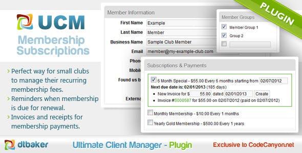 Invoice Membership Subscription
