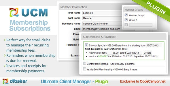 Invoice Membership Subscription - CodeCanyon Item for Sale