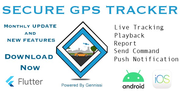 Secure GPS Tracker using traccar (Android and IOS)