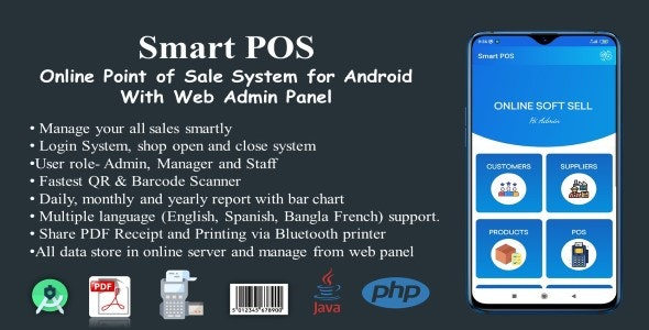 Smart POS-Online Point of Sale System for Android with Web Admin Panel - CodeCanyon Item for Sale