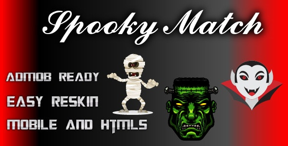 Spooky Match - Html 5 and Mobile Game (Construct 3) - CodeCanyon Item for Sale