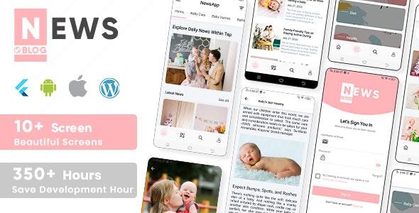 Newz - Flutter News & Blog App For Wordpress - CodeCanyon Item for Sale
