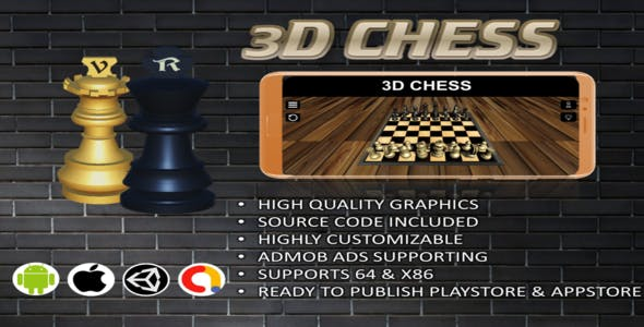 3D Chess Complete Unity Project With Admob
