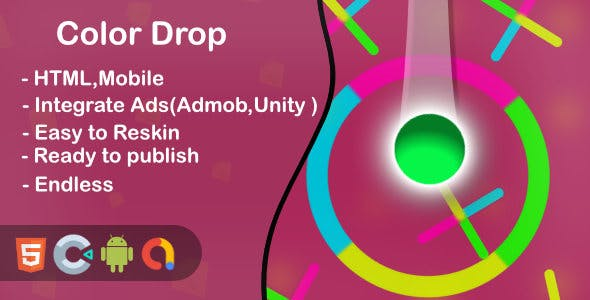 Color Drop - Html5 Game and Mobile (Construct 3)