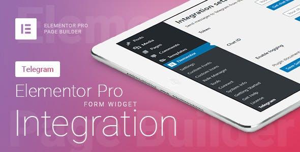 Elementor Pro Form Widget - Telegram - Sender