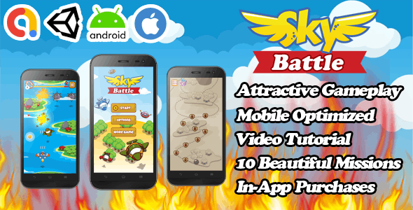 Sky Battle - Unity Action Game Template - Admob + Facebook Ads - Ready To Publish - CodeCanyon Item for Sale