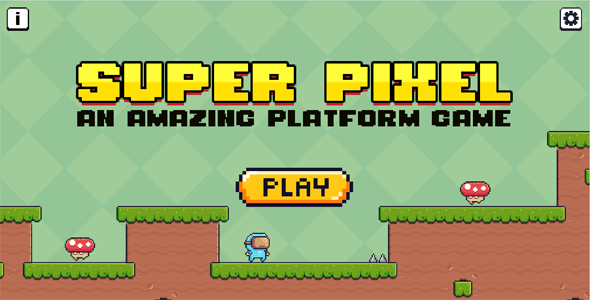 Platform Game 2D Side Scroller - Super Pixel (Construct 3)