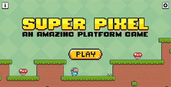 Platform Game 2D Side Scroller - Super Pixel (Construct 3) - CodeCanyon Item for Sale