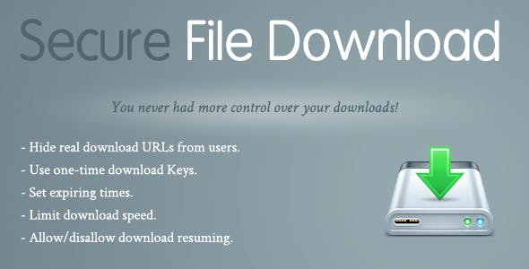 Secure File Download Class