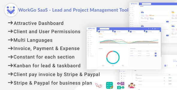 WorkGo SaaS - Lead and Project Management Tool - CodeCanyon Item for Sale