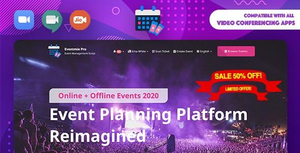 Eventmie Pro- Online + Offline Events & Classes Tickets Selling & Management Multi-vendor Platform