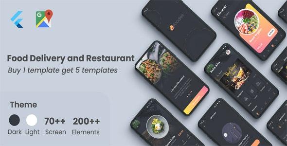 Flutter Food - Restaurant Food Delivery in Flutter - CodeCanyon Item for Sale