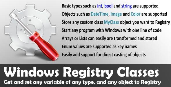 Windows Registry Classes