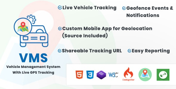 Vehicle Management System With Live GPS Tracking - CodeCanyon Item for Sale