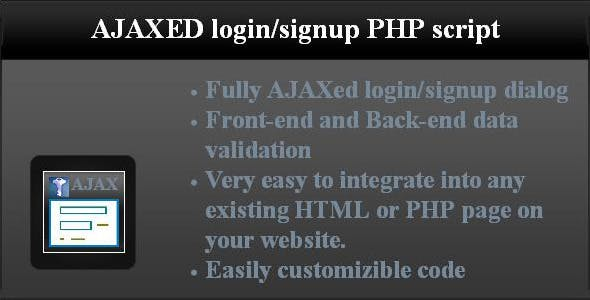 AJAXed login/signup PHP script