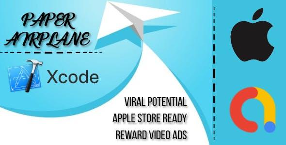 Paper Airplane - xCode - iPhone - iOS Game - AdMob Ads Reward Video