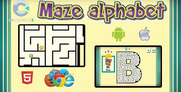 Maze Alphabet - HTML5 Mobile Game