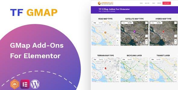 Google Maps addon - widget for Elementor