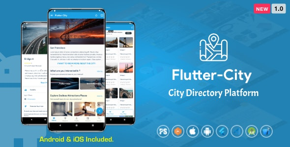 Flutter City ( Directory, City Tour Guide, Business Directory, Travel Guide, Booking ) 1.0 - CodeCanyon Item for Sale