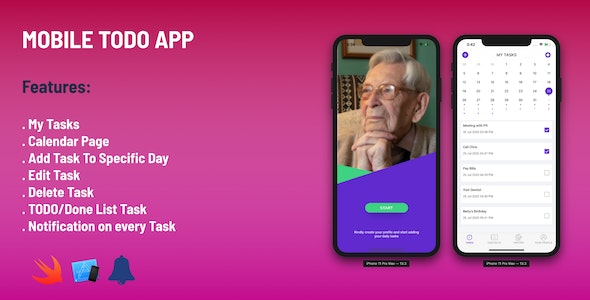 Todo Simple App - IOS - CodeCanyon Item for Sale