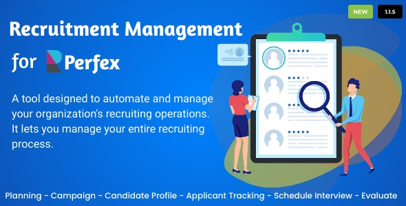 Recruitment Management for Perfex CRM v1.1.5