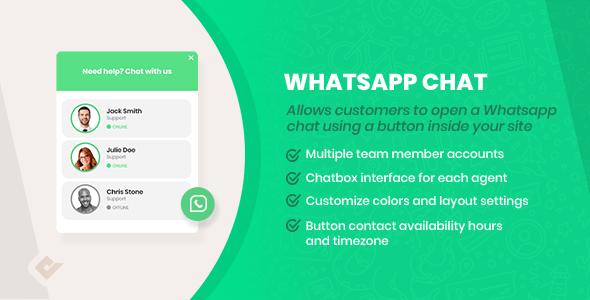 WordPress WhatsApp Chat Box - CodeCanyon Item for Sale