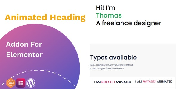 Animated heading addon – widget for Elementor - CodeCanyon Item for Sale