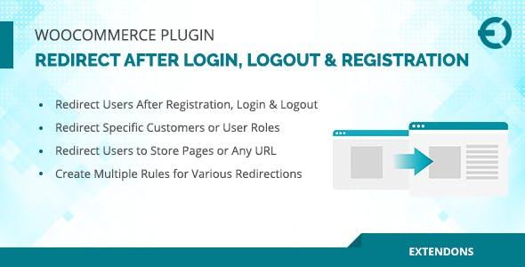 WooCommerce Redirect After Login, Logout & Registration