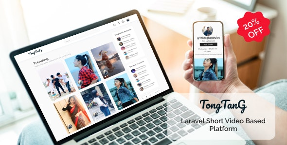 TongTang - Laravel Short Video Sharing Platform - CodeCanyon Item for Sale