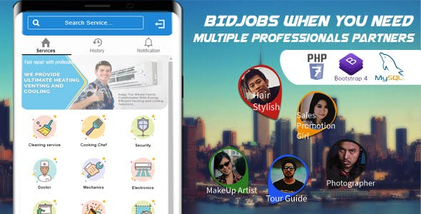 Bid Job Mobile