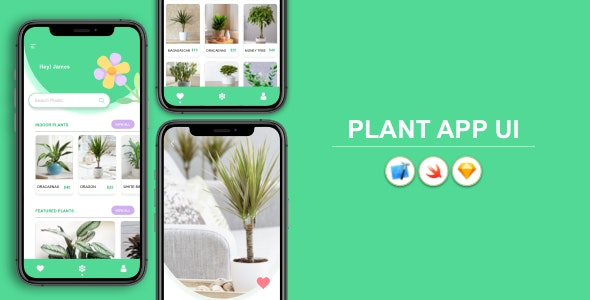 Plant App - iOS UI Design - CodeCanyon Item for Sale