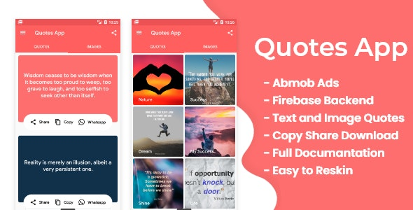 Quotes app with firebase AdminPanel and Admob ads - CodeCanyon Item for Sale