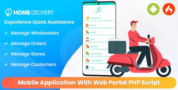 Online Grocery - Home Delivery Mobile Application With Web Portal PHP Script